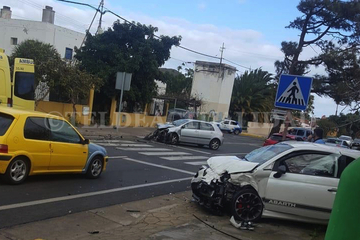 Aparatoso accidente de tráfico en Valsequillo