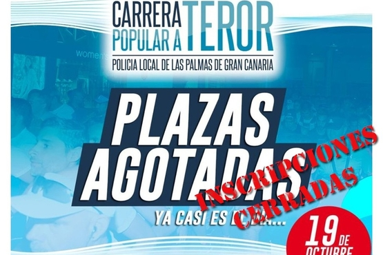 La carrera a Teror de la Policía Local bate récord con 1.200 inscritos