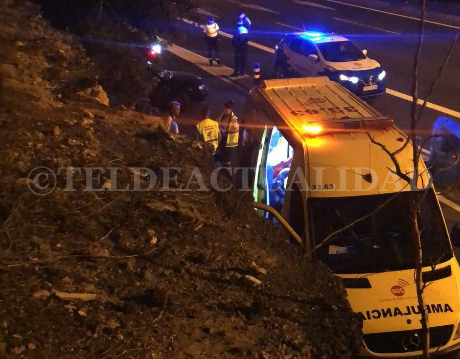 Accidente de madrugada en la GC-1